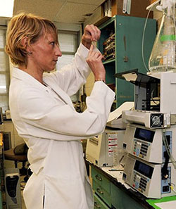 Scientist at work in lab